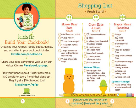 Fresh Start! Shopping List