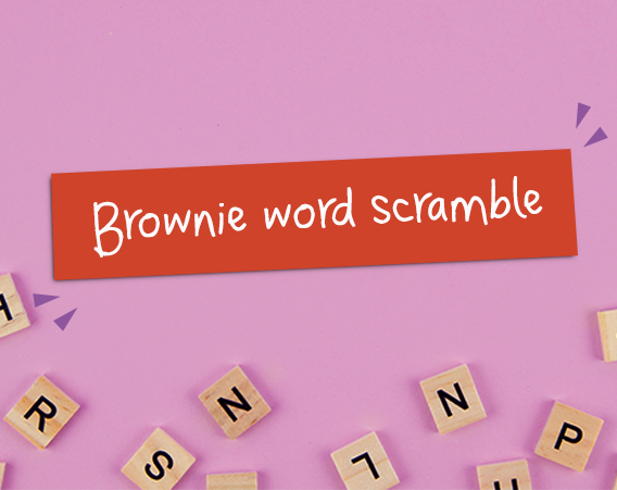Kidstir Brownie Word Scramble
