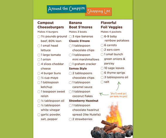 Around the Campfire Shopping List