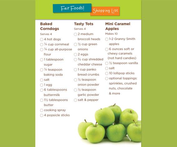 Fair Foods Shopping List