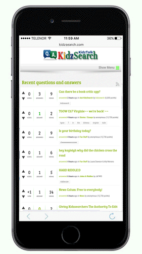KidzSearch Mobile App KidzTalk Homework Hep Forum