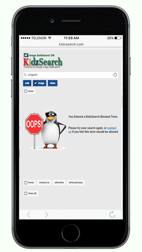 KidzSearch Mobile App Search