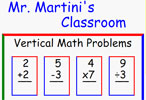 Mr. Martini's Classroom - Vertical Math Problems