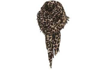 Leopard print scarf, $32, Topshop.com
