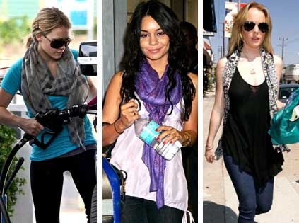 Celebs in scarves!