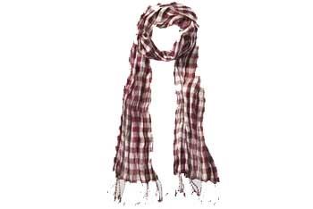 Plaid scarf with tassels, $12, GarageClothing.com