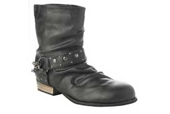 Stud strap boot, $40, NewLook.com
