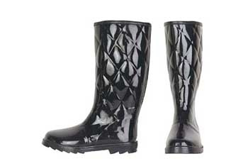 Quilted black rain boots, $49.90, Alloy.com