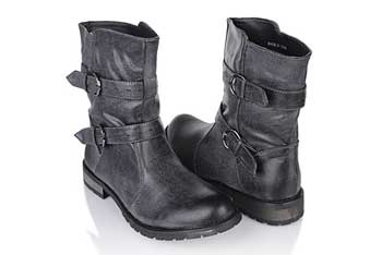 Distressed leatherette boots, $32.80, Forever21.com