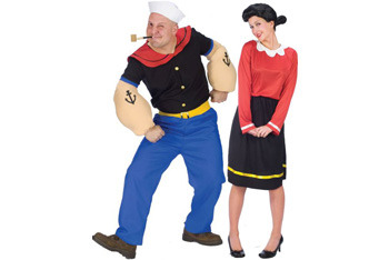 Popeye and Olive Oil costumes, $29.99 each, Zoogstercostumes.com