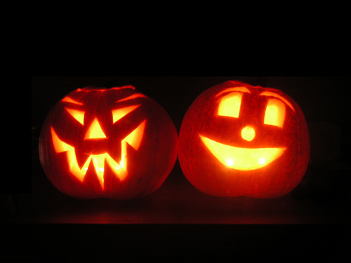 Pair of Jack O'Lanterns