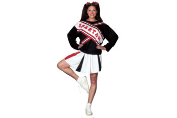 Female Spartan Cheerleader costume, $25, CostumeCraze.com