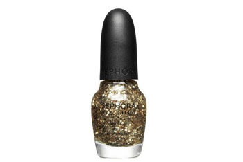 "Sephora nail polish in""Only Gold for Me"" topcoat, $9, Sephora.com"