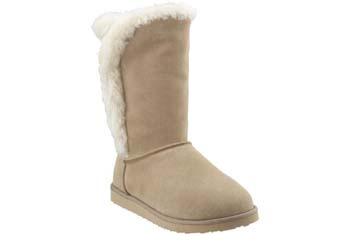 "Faux fur leather ""Adoraboots"", $25, Old Navy"