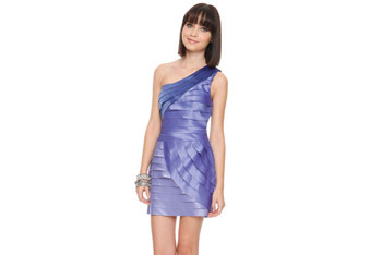 Colorblock tiered blue dress, $27.80, at Forever21