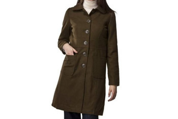 Olive green wool trench coat, $69.99, at Target.com