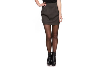 Fab knit skirt in olive, $12.50, at Forever21