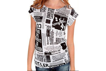 Black and white newsprint top, $19, HotTopic.com