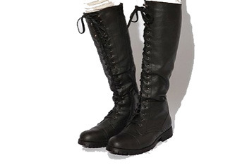 Tall lace-up boot, $88, UrbanOutfitters.com