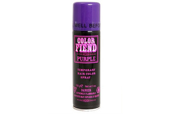 Color Fiend purple temporary hair color hairspray, $4.99, HotTopic.com