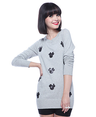 Minnie Mouse Sequin sweater, $23.80, at Forever21