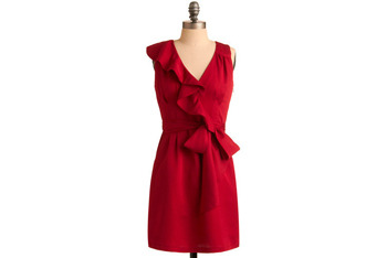 Color of desire red dress, $59.99, at ModCloth.com