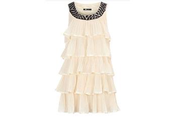 Cutie cream tiered embellished dress, $50, at DorothyPerkins.com