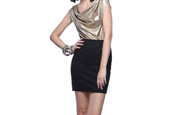 Glimmering cowl neck dress, $22.80, at Forever21.com