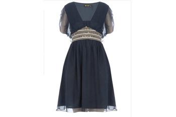 Rise navy embellished dress, $65, at DorothyPerkins.com