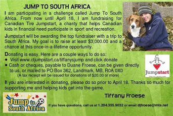 Jumpstart to South Africa
