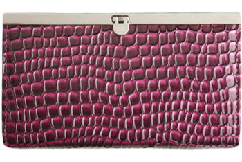 Purple patent croc clutch from Wet Seal, $11