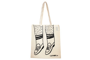 Loafers tote bag from Lazyoaf.co.uk, $10