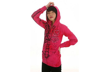 Iron Fist Pink Robot Skeleton Hoodie from Hot Topic, $38