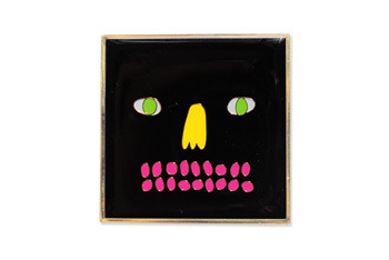 Square Head brooch from Lazyoaf.co.uk, $10