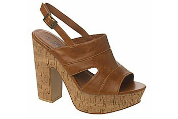 Brown cork platforms from NewLook.com, $50