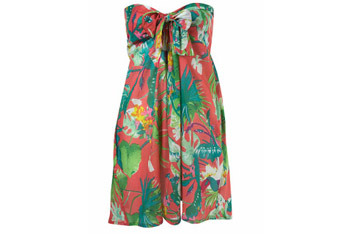 Tropicana bandeau cover up from Topshop.com, $40