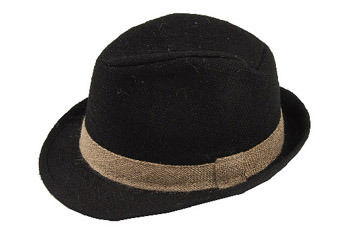 Fedora hat from Bluenotes (www.blnts.com), $5