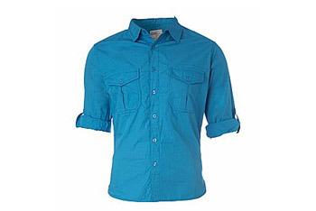 Blue shirt from www.NewLook.com, $18