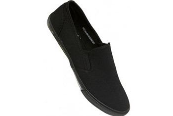 Black slip on plimsolls from www.Topman.com, $23