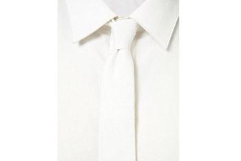 White denim slim tie from www.Topman.com, $15