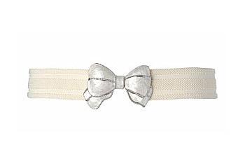 Enamel bow stretch belt from NewLook.com, $8