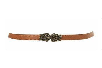 Rose buckle leather belt from Topshop.com, $30