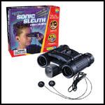 Sonic Sleuth Listening Device & Binoculars
