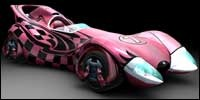 Trixie, played by Christina Ricci, drives this special T180 car.