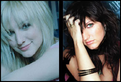 To celebrate her rocker-chick image, Ashlee Simpson has gone from platnium blonde to moody brunette.