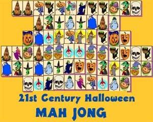Play a free game of Halloween Mah Jong!