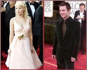 Elisha Cuthbert and Elijah Wood at the 2004 Golden Globes.