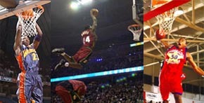 Jason Richardson, Desmond Mason and Corey Magette are three of the dunkmasters you could be seeing at the NBA's 2003 Slam-Dunk Contest.