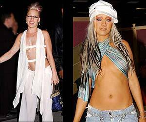 Do Pink and Christina Aguilera deserve a fashion ticket for 2002?