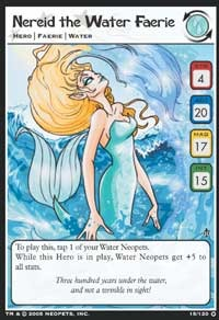 Get a sneak peek at the cool things happening in the Neopets Trading Card Game with this Nereid the Water Faerie card from Wizards of the Coast!